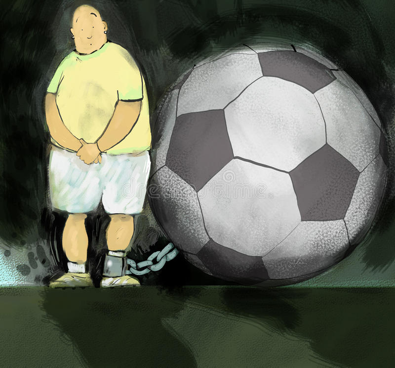 Futebol & corrente ilustração do vetor