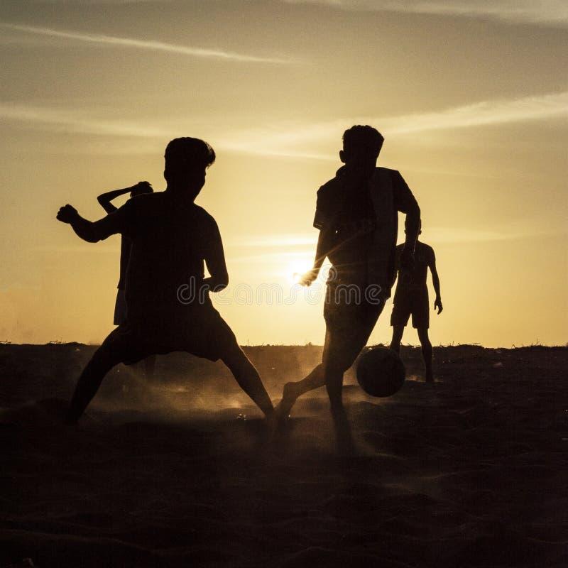 Futebol da praia imagem de stock