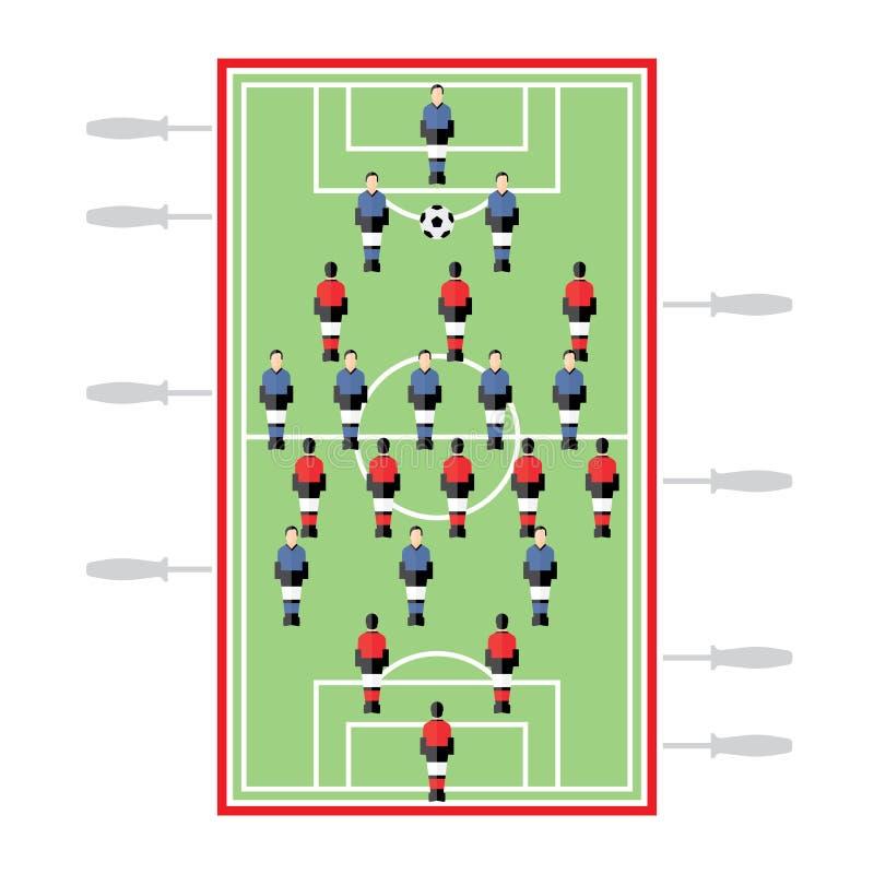 Futebol da tabela ilustração do vetor