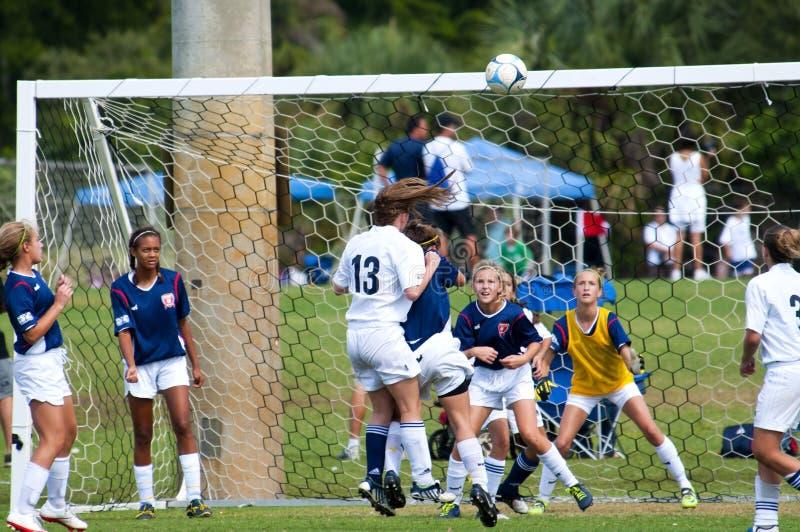 Futebol das meninas   imagens de stock royalty free