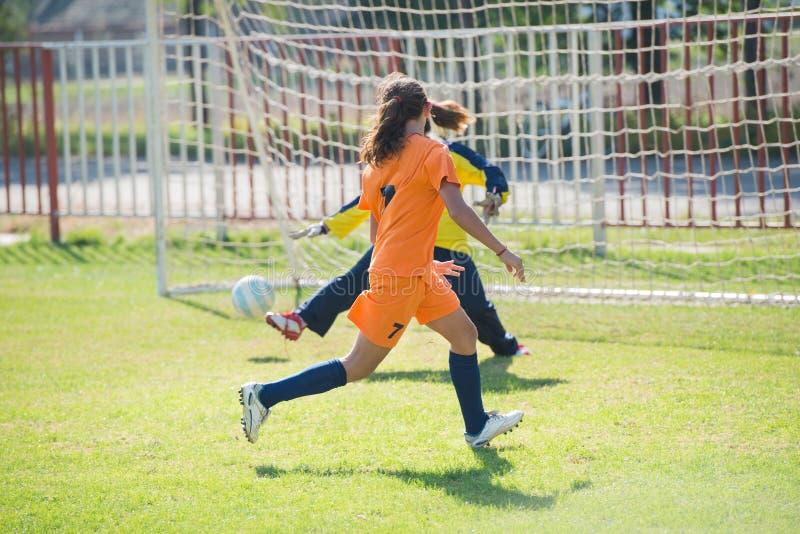 Futebol das meninas fotos de stock