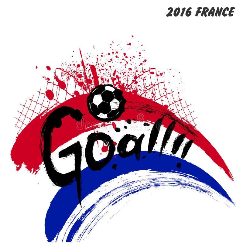 Futebol 2016 de França do Euro ilustração royalty free