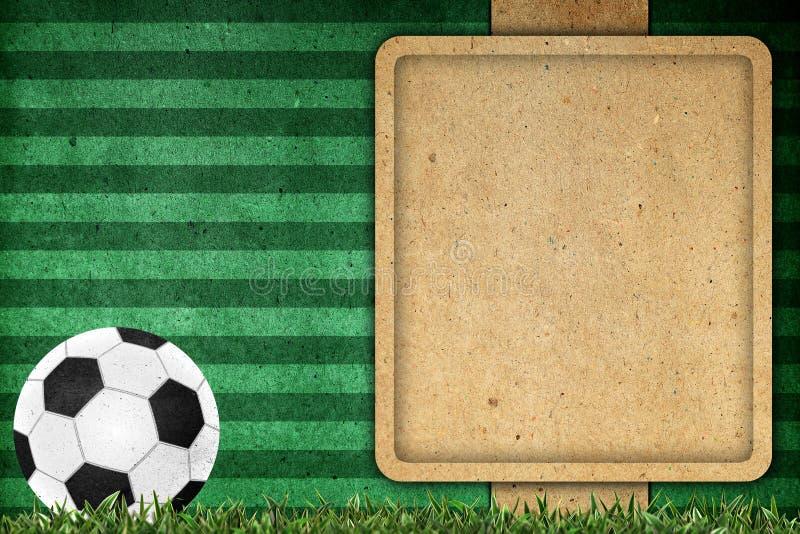 Futebol de papel velho do fundo ilustração stock