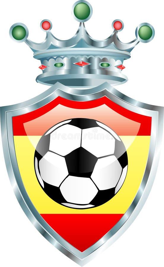 Futebol de Spain ilustração do vetor