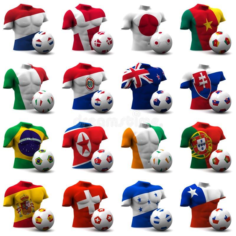 Futebol do copo de mundo - África do Sul 2010 ilustração royalty free
