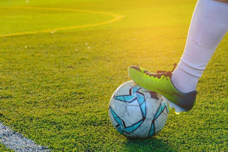 Futebol do jogo de crianças imagens de stock