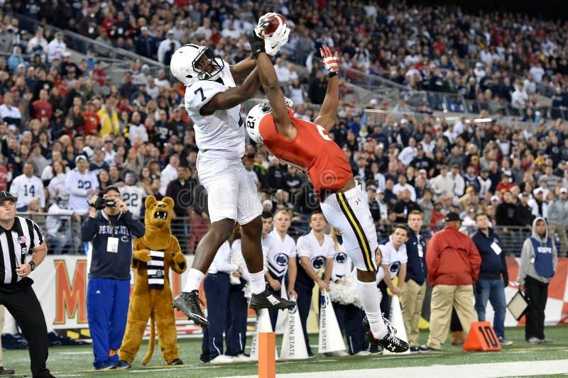 2015 futebol do NCAA - Penn State contra maryland imagens de stock