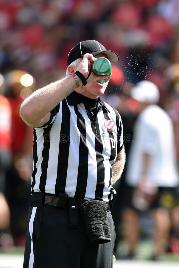 2015 futebol do NCAA - USF @ Maryland fotografia de stock