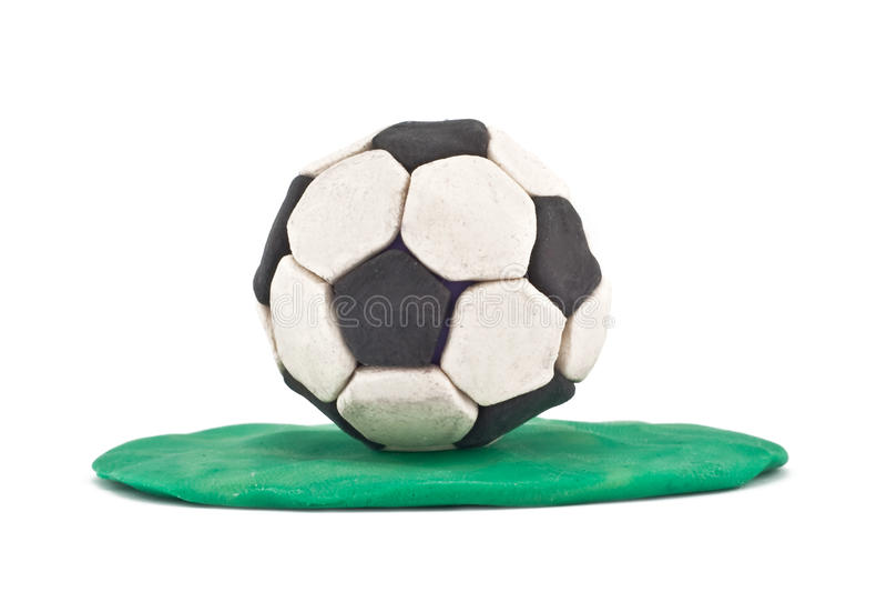Futebol do Plasticine foto de stock royalty free