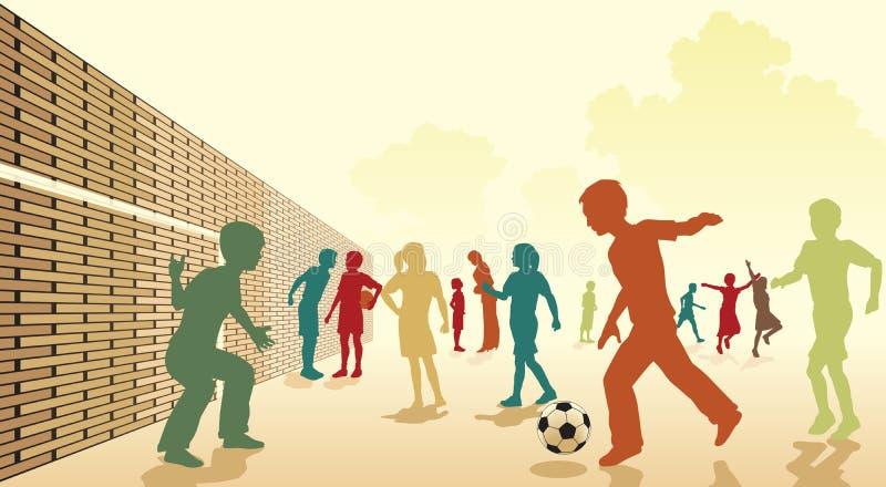 Futebol do recreio ilustração stock