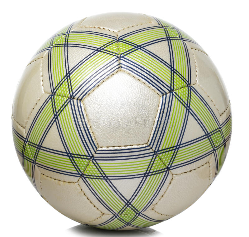 Futebol do teste padrão do ouro verde foto de stock royalty free