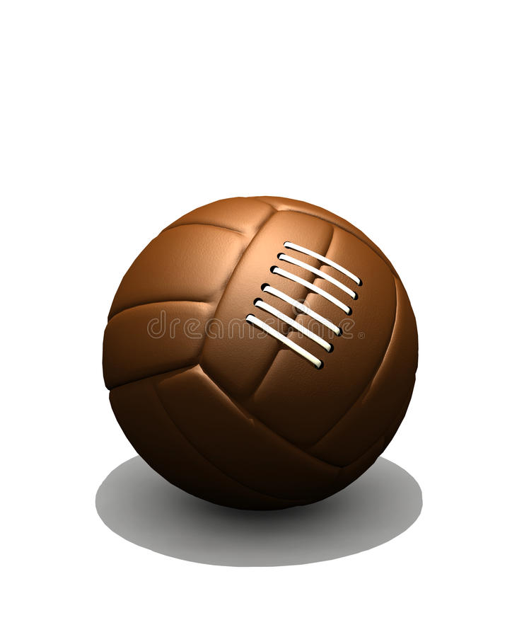 Futebol do vintage ilustração stock