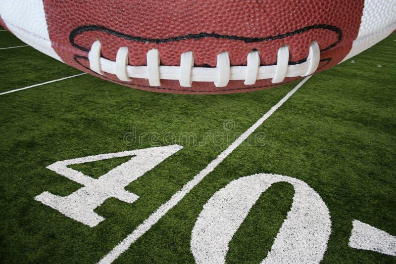 Futebol e campo fotografia de stock royalty free