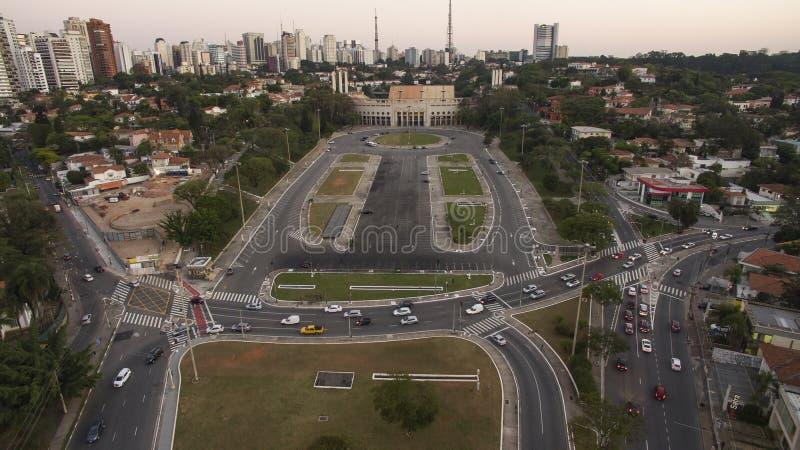 Futebol em todo o mundo, Sao Paulo Brazil do estádio de Pacaembu imagens de stock