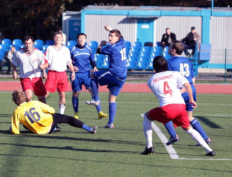 Futebol. Esforço violento imagens de stock
