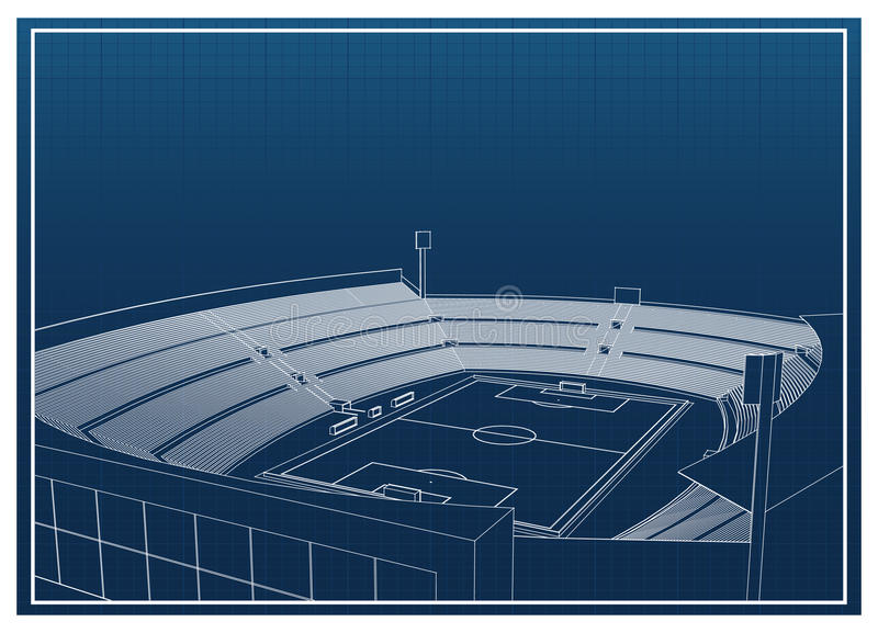 Futebol - estádio de futebol ilustração do vetor