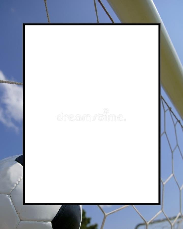 Futebol - frame do futebol fotografia de stock
