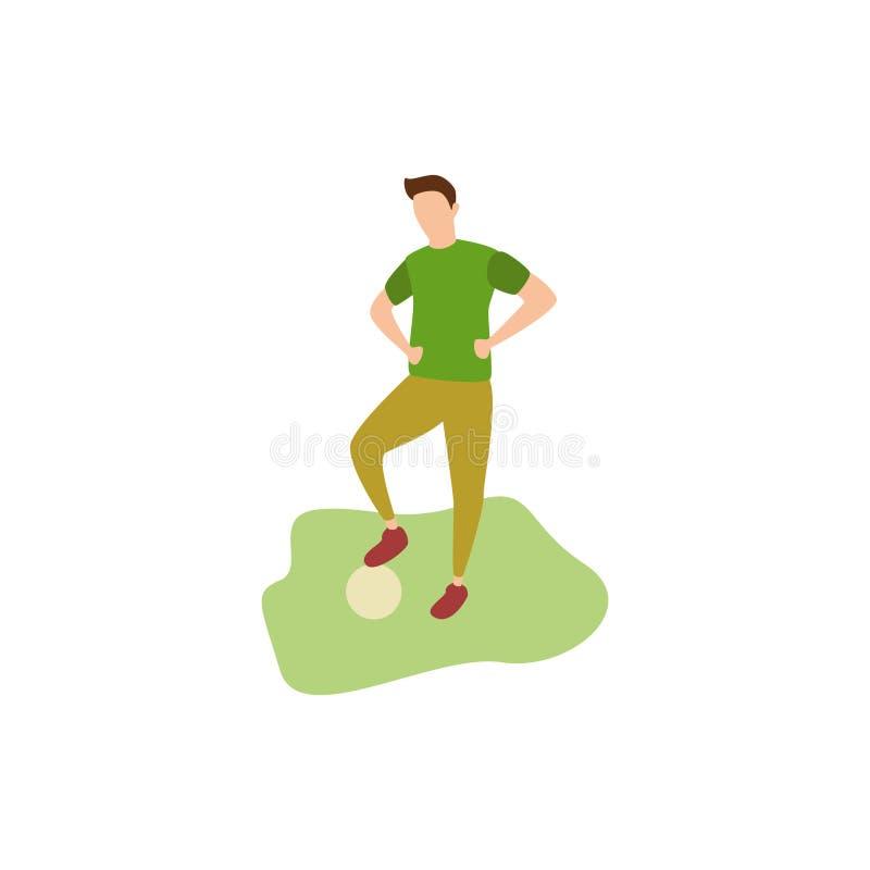 Futebol humano dos passatempos ilustração royalty free