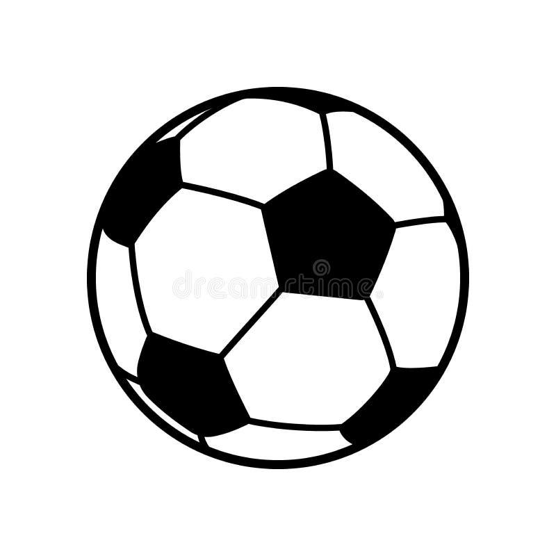 Futebol, ilustração preto e branco do vetor da bola de futebol ilustração stock