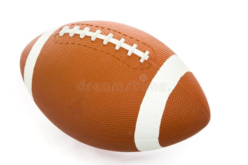 Futebol isolado com trajeto imagens de stock