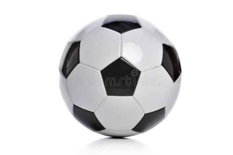 Futebol isolado no branco fotografia de stock royalty free
