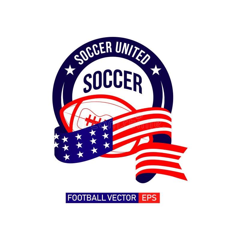 Futebol Logo Vetora Template Design Illustration do futebol ilustração do vetor