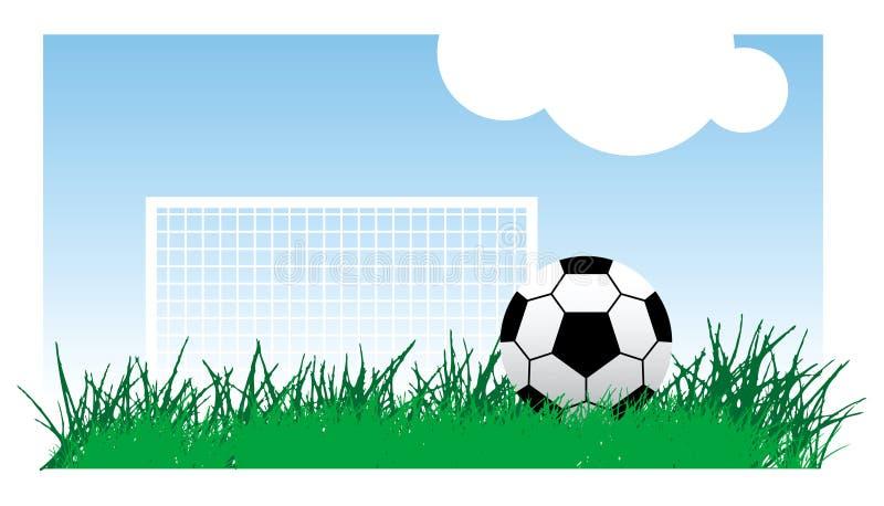 Futebol na grama ilustração do vetor