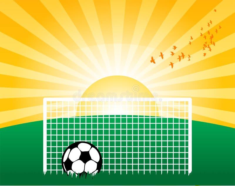 Futebol na grama ilustração royalty free
