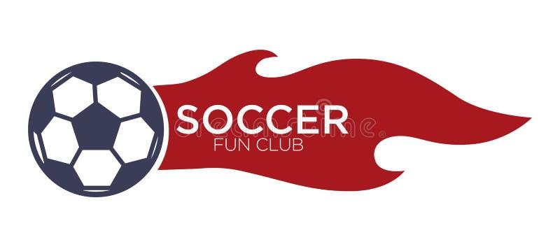 Futebol ou ícone isolado futebol com rotulação da bola no fogo ilustração do vetor