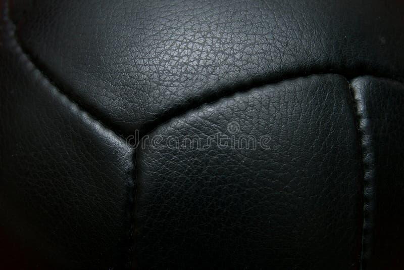 Futebol preto do vintage imagem de stock