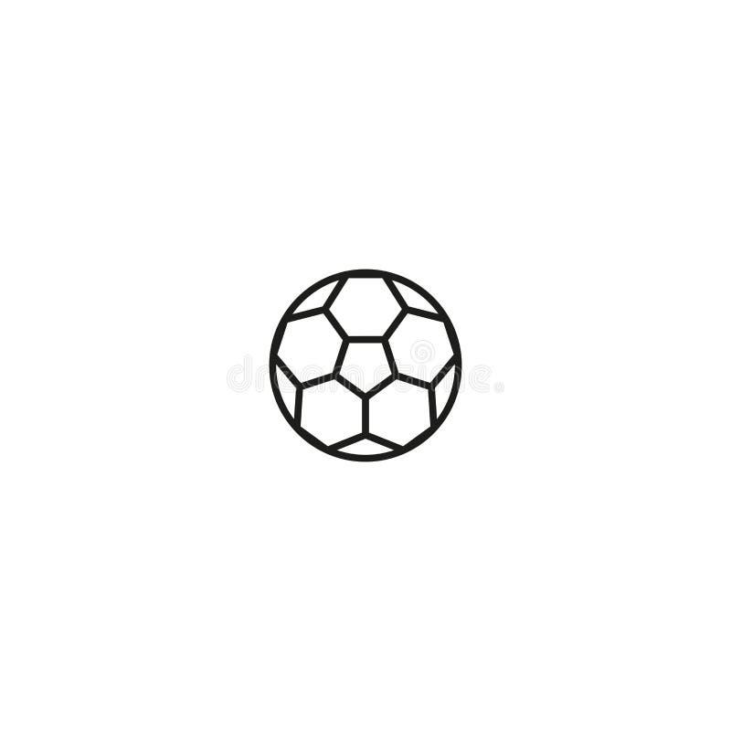 Futebol preto linear no branco ilustração do vetor