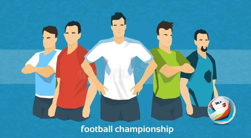Futebol Team International Championship ilustração do vetor