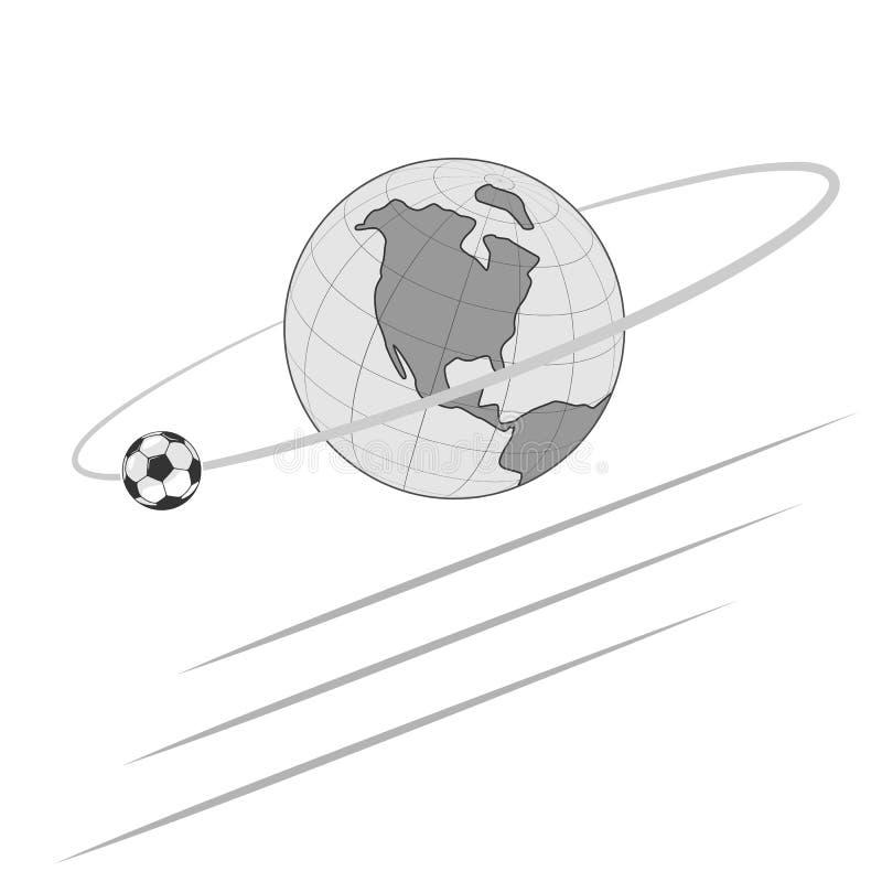 Futebol, unindo o mundo inteiro ilustração royalty free