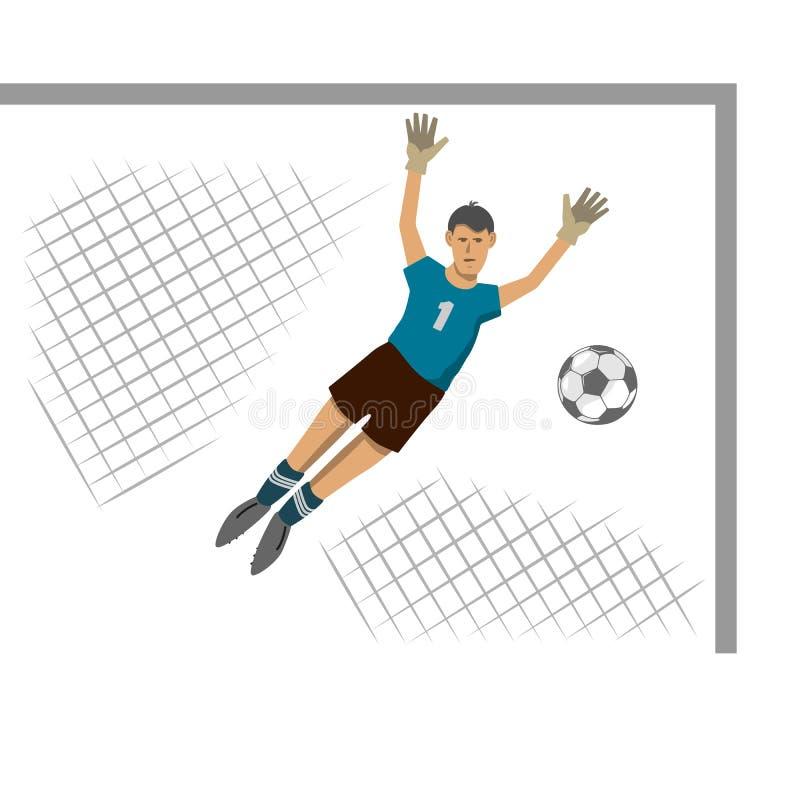 Futebol, unindo o mundo inteiro ilustração stock