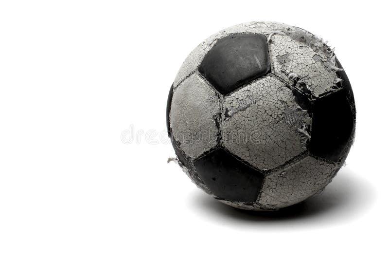Futebol velho fotografia de stock