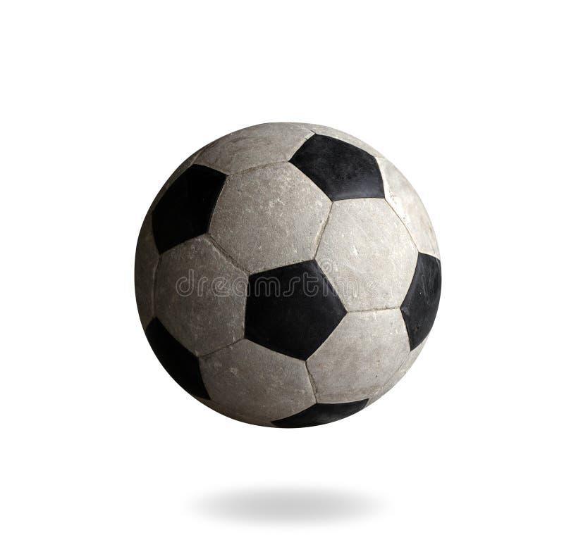 Futebol velho os bens ostentando imagem de stock royalty free
