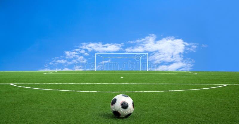 Futebol verde imagem de stock