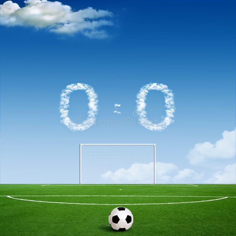 Futebol verde imagens de stock