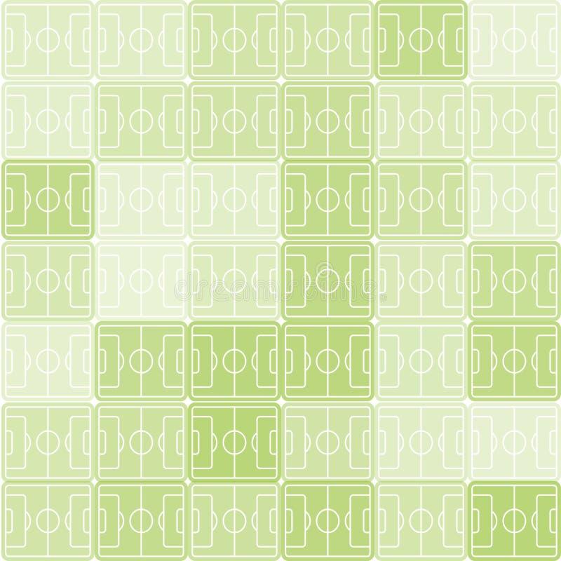 Futebol verde e branco da cor, fundo do vetor do campo de futebol Contexto quadriculado Teste padrão do esporte ilustração stock