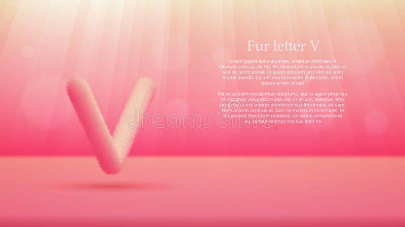Futerko listowy V nad waniliowego lodu koloru gradientowym pracownianym izbowym tłem ilustracja wektor