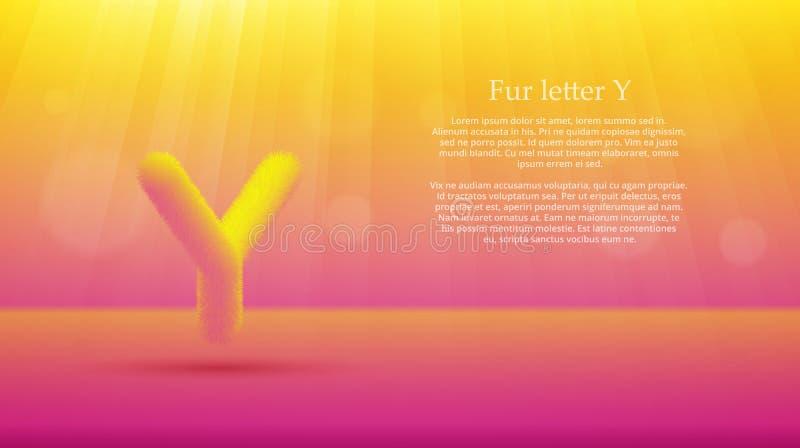 Futerko listowy Y nad kolor żółty menchiami barwi gradientowego pracownianego izbowego tło ilustracja wektor