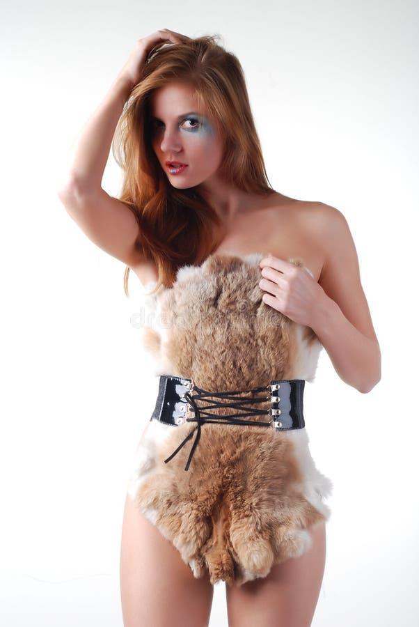 futerkowa kobieta fotografia stock