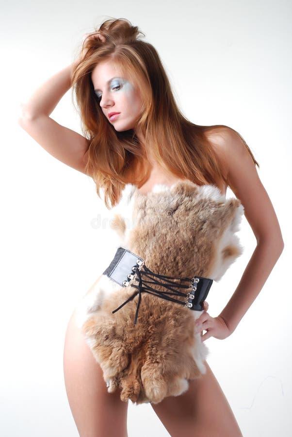 futerkowa kobieta obraz stock