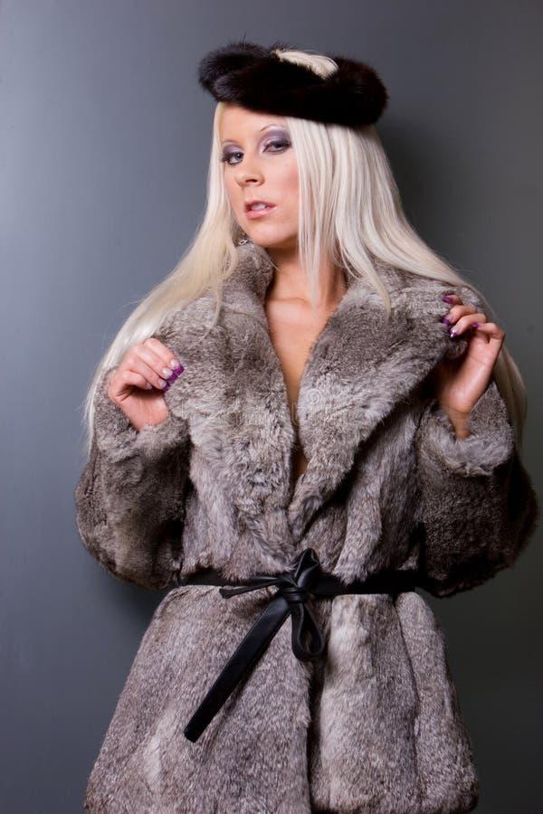 futerkowa seksowna kobieta obraz royalty free