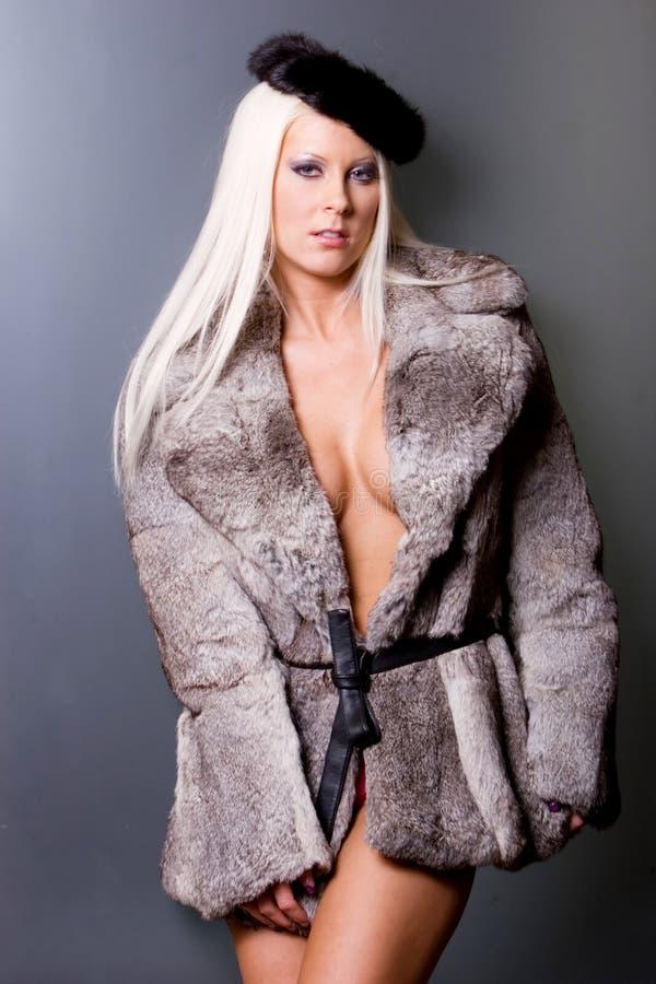futerkowa seksowna kobieta zdjęcia stock