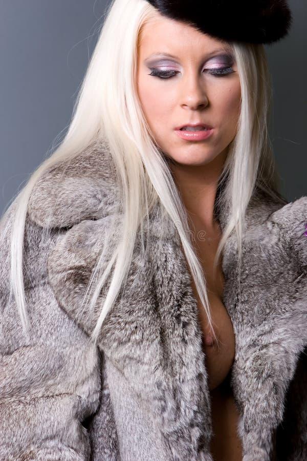 futerkowa seksowna kobieta fotografia stock