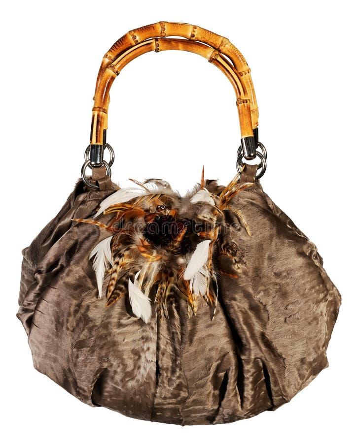 Futerkowa torba odizolowywająca zdjęcie royalty free