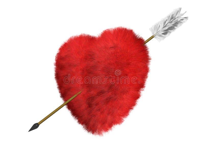 Futerkowy serce jest celem