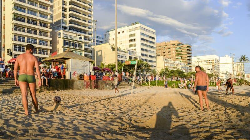Futevolei op het strand in Ipanema, Rio de Janeiro, Brazilië royalty-vrije stock afbeeldingen