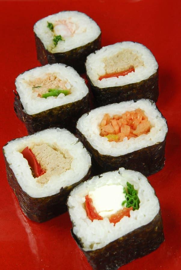 Futomaki do sushi fotografia de stock